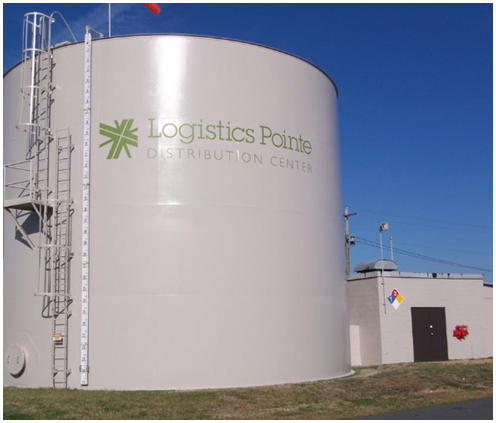 Storage tank at Logistics Pointe Distribution Center