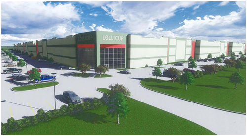 Rendering of Lollicup's manufacturing facility in Rockwall