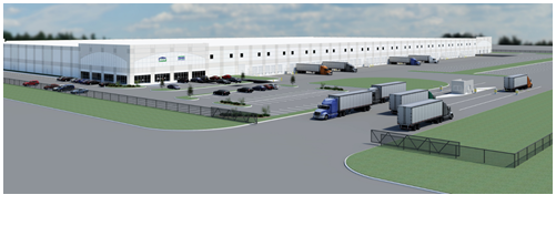 Rendering of warehouse property