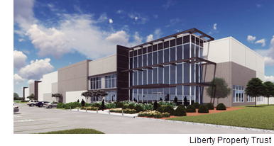 A rendering of Liberty Park Mountain Creek Industrial Park in Dallas.