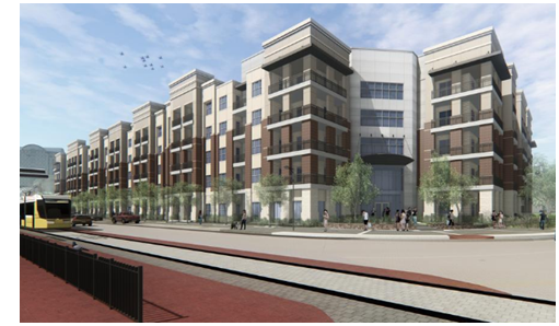 Rendering of Jefferson Eastshore apartment building