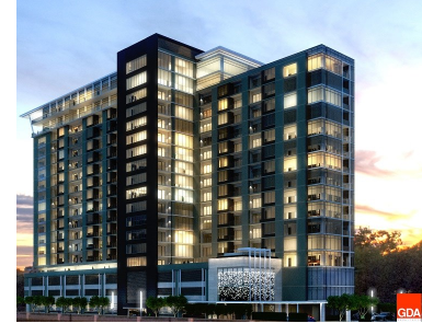 Exterior rendering of the Nove at Knox