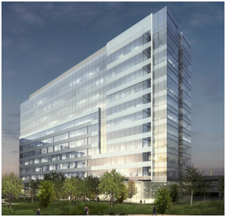 Rendering of the tower at 3201 Dallas Parkway