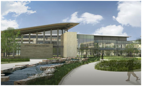 Preliminary rendering of Charles Schwab's new Texas operational center