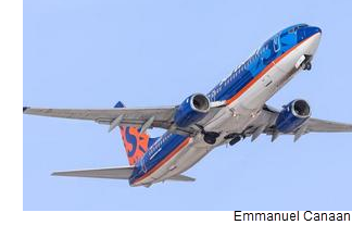 Sun Country Airlines flies Boeing 737 passenger jets out of Minneapolis-St. Paul International Airport.
