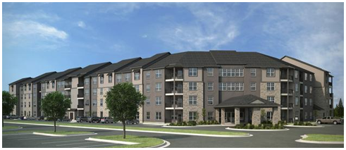 Rendering of Firewheel Residences at completion