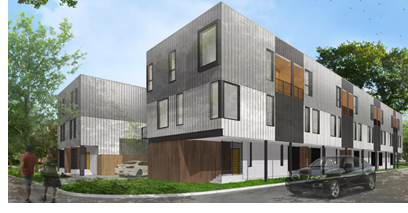 Rendering of the new Townhouse development