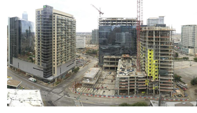 Image of the construction of The Union Dallas