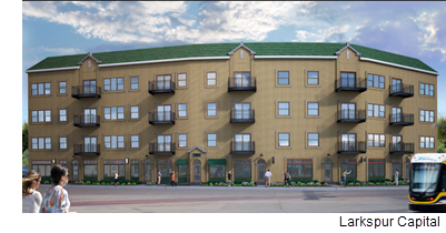 A rendering of the Zang Flats.