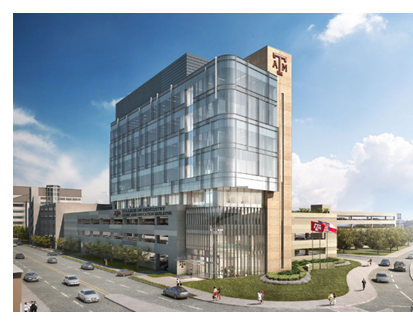 Rendering of Texas A&M dentistry facility in Dallas