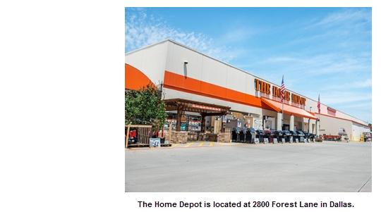 Home depot forest ln dallas for New home source dfw