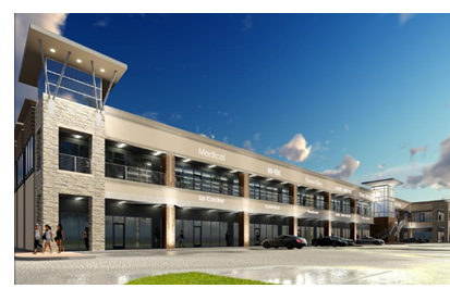 Rendering of Maple Walk shopping center