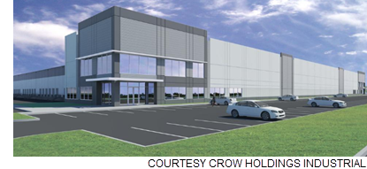 Rendering of the Victory Commerce Center.