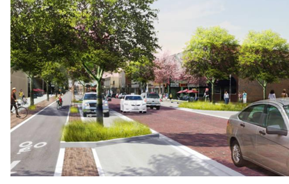 Rendering of Main Street Improvements