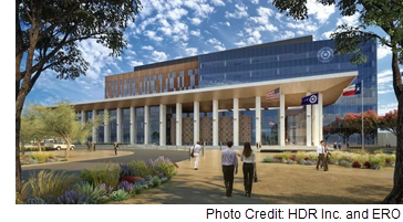 Rendering of the future courthouse.
