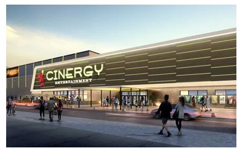 A rendering of a proposed Cinergy entertainment complex.