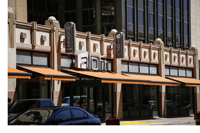 The Aloft Hotel by Marriott in the newly restored O.T. Bassett Tower in Downtown El Paso.