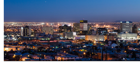 Night Cityscape with lights of El Paso, Texas. Photo by BBlanck.