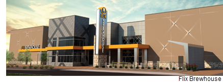 An architectural drawing of the El Paso Flix Brewhouse, which is scheduled to open by the end of the year.  Image provided by Flix Brewhouse