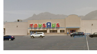 Former Toys R Us building