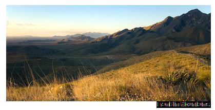 Franklin Mountains in El Paso.
