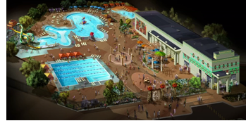 Rendering of The Lost Kingdom water park.