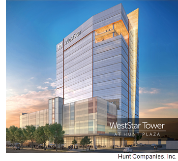 Rendering of WestStar Tower at Hunt Plaza.