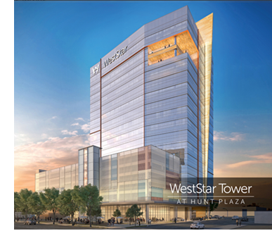 Rendering of the WestStar Tower at Hunt Plaza.