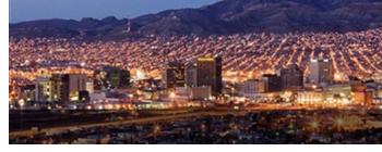 El Paso city skyline.