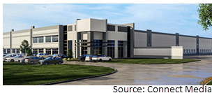 Rendering of speculative distribution center