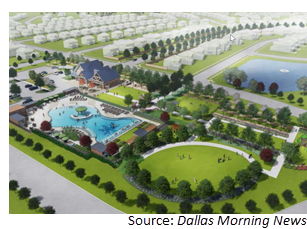 Rendering of the Overland Grove community
