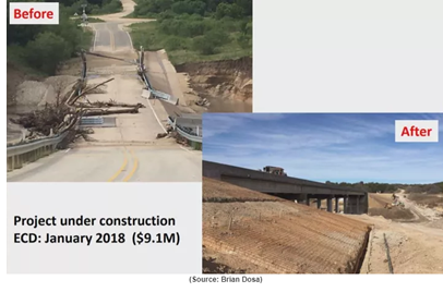 Image of a bridge construction project on Fort Hood