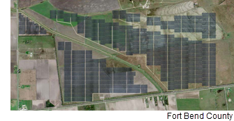 Rendering of the solar farm.