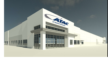 A rendering of the ATAC hangar under construction north Fort Wo