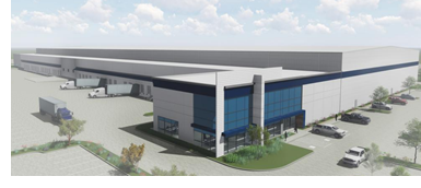 Rendering of new cold storage facility