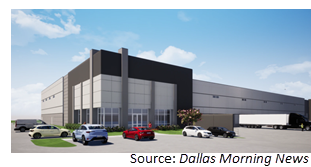 Rendering of the Carter Logistics Center