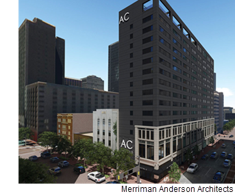 A rendering of the AC Hotel project in Downtown Fort Worth.