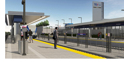 Rendering of the Iron Horse Station