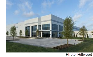 A rendering of the industrial property leased by Smart Warehousing, which is based in Kansas City.