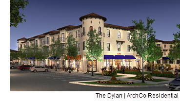 A rendering of The Dylan in Fort Worth, Texas, near Dallas.