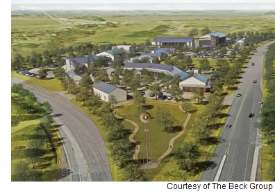 A rendering of the Seven Hills Resort and Conference Center in Fredericksburg.
