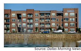 The Emerson and Emerson Court apartments near the Dallas North Tollway