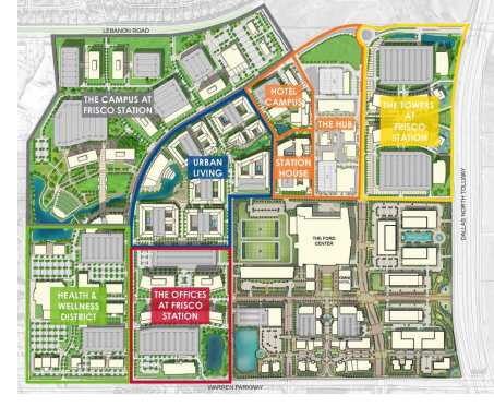 Frisco Station site plan.
