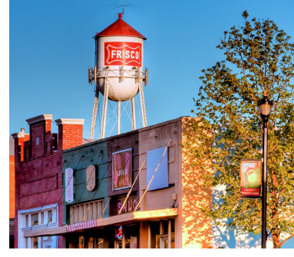 Image of Frisco city water tower