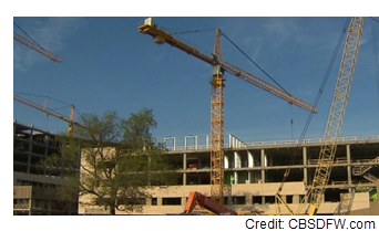 Image of the hospital while still under construction.