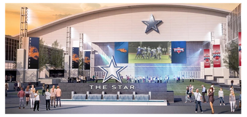 Dallas Cowboys' Star Rendering