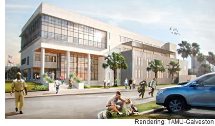 A rendering of the academic complex at TAMU-Galvestion