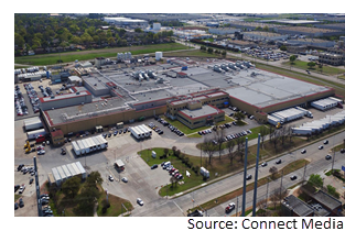 Birds-eye view of the Kraft Heinz plant at 2340 Forest Lane