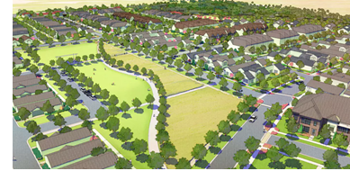 Rendering of planned neighborhood