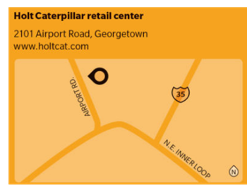 Map of future retail center